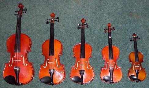 Medidas del violin